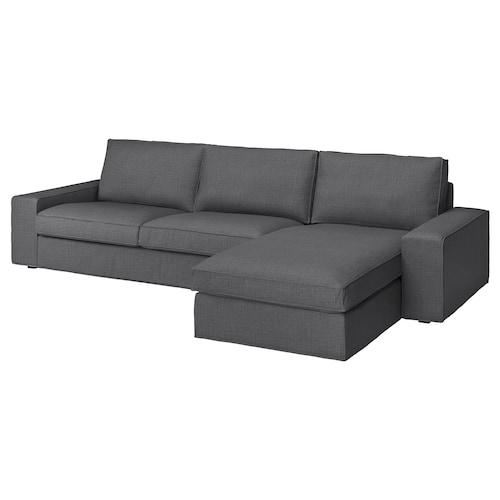 シーヴィク 4人掛けソファ 寝椅子付き/スキフテボー ダークグレー 318 cm 83 cm 95 cm 163 cm 60 cm 124 cm 45 cm