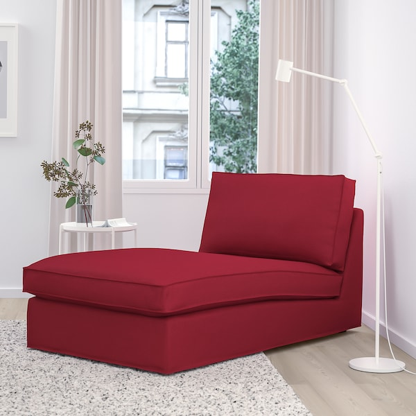 シーヴィク 寝椅子 オッルスタ レッド 90 cm 163 cm 83 cm 124 cm 45 cm
