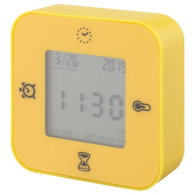 KLOCKIS クロッキス 時計/温度計/アラーム/タイマー, ダークイエロー