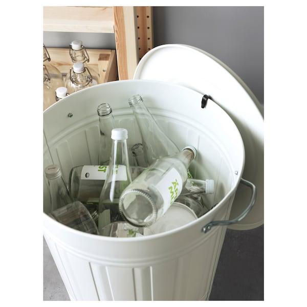 クノッド ふた付きゴミ箱, ホワイト, 40 l