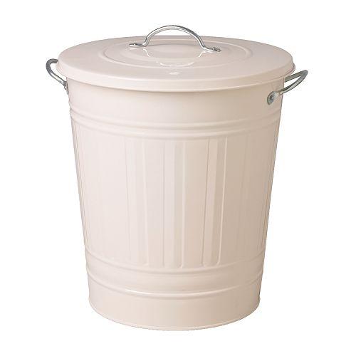 KNODD蓋付き容器,ホワイト,40l/1,990円/ikea