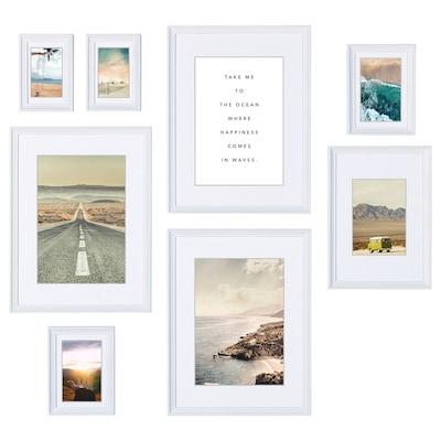 KNOPPÄNG クノッペング ポスター付きフレーム8個セット, 海の幸せ