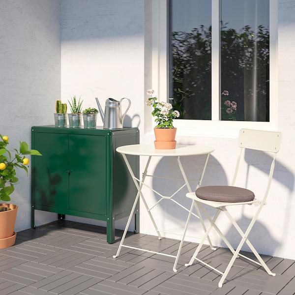 KOLBJÖRN コールビョーン キャビネット 室内/屋外用, グリーン, 80x81 cm