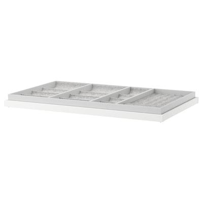 KOMPLEMENT コムプレメント 引き出し式トレイ インサート付き, ホワイト, 100x58 cm