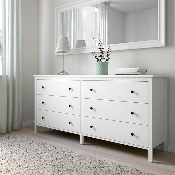 KOPPANG コッパン チェスト(引き出し×6), ホワイト, 172x83 cm