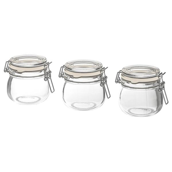 KORKEN コルケン ふた付き容器, クリアガラス, 13 cl