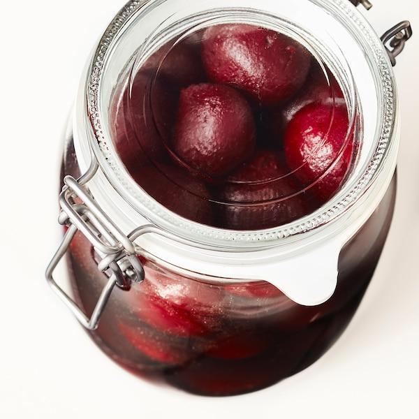 KORKEN コルケン ふた付き容器, クリアガラス, 1 l