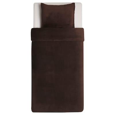 KRANSSALVIA クランサルヴィア 掛け布団カバー&枕カバー, ブラウン, 150x200/50x60 cm