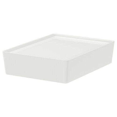 クッギス ふた付きボックス ホワイト 26 cm 35 cm 8 cm