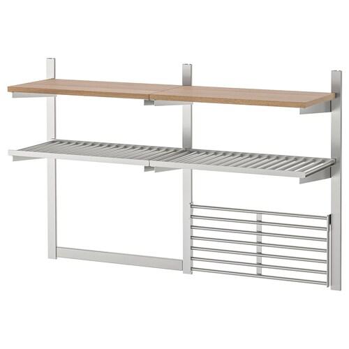 IKEA クングスフォルス つり下げレール/棚板/マグネットナイフラック/ウォールグリッド