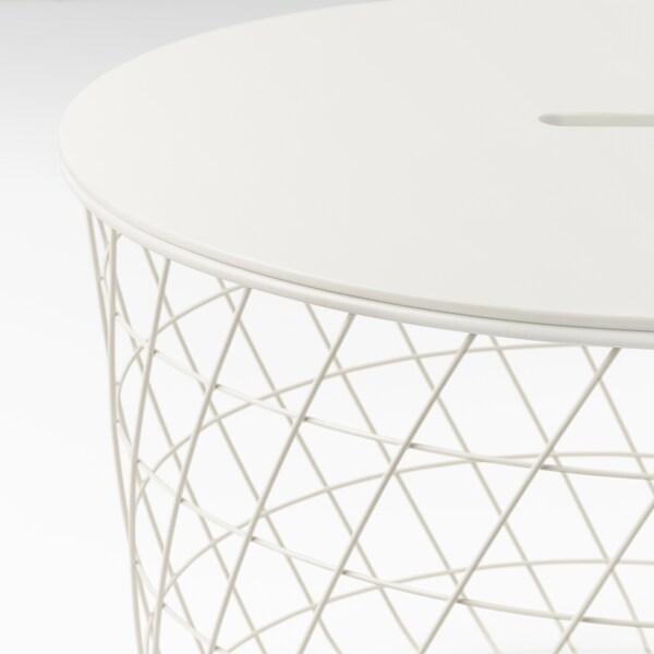 KVISTBRO クヴィストブロー リビングテーブル 収納付き, ホワイト, 61 cm