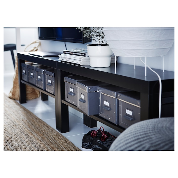 LACK ラック テレビ台, ブラック, 90x26x45 cm