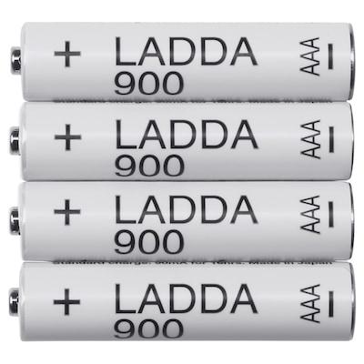 LADDA ラッダ 充電式電池, HR03 AAA (単4形) 1.2V