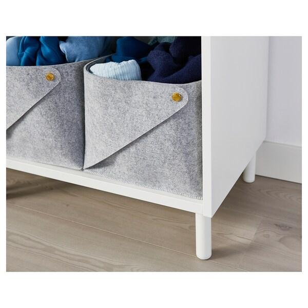 LÄTTHET レットヘート 脚, ホワイト/メタル, 11 cm