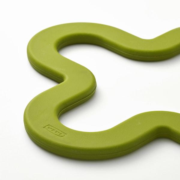 LAGG ラッグ 鍋敷き, グリーン, 18x18 cm