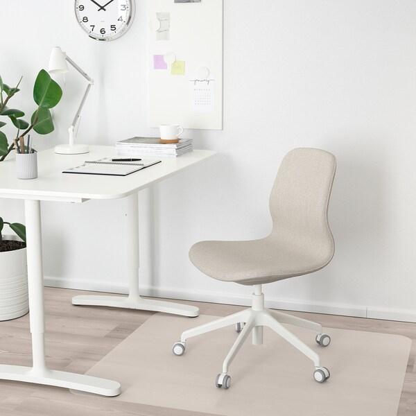 LÅNGFJÄLL ロングフィェル オフィスチェア, グンナレド ベージュ/ホワイト