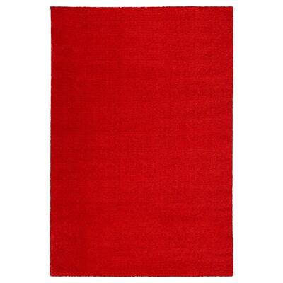LANGSTED ラングステド ラグ パイル短, レッド, 133x195 cm