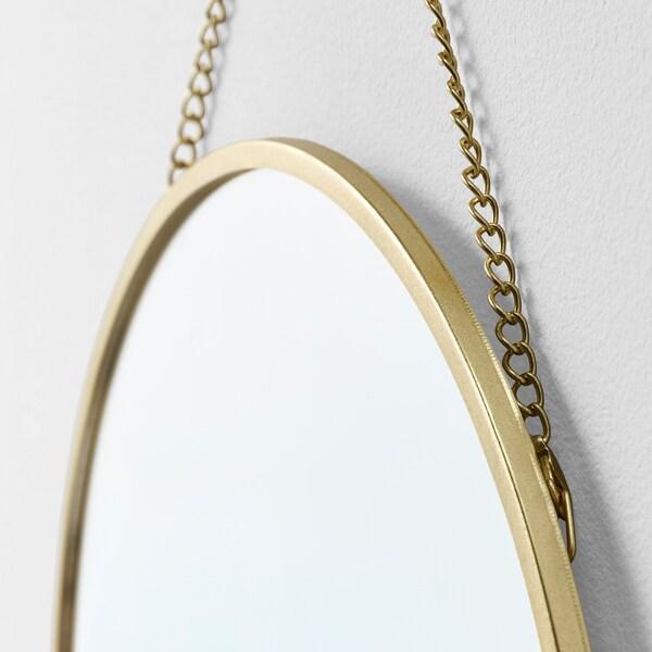 ラスビーン ミラー ゴールドカラー 25 cm
