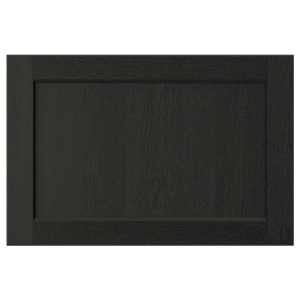 LERHYTTAN レルヒッタン 引き出し前部, ブラックステイン, 60x40 cm