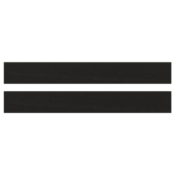 LERHYTTAN レルヒッタン 引き出し前部, ブラックステイン, 75x10 cm