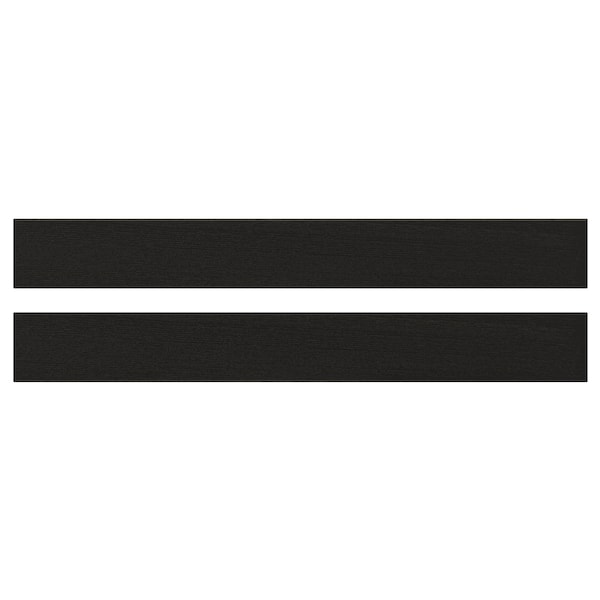 LERHYTTAN レルヒッタン 引き出し前部, ブラックステイン, 80x10 cm