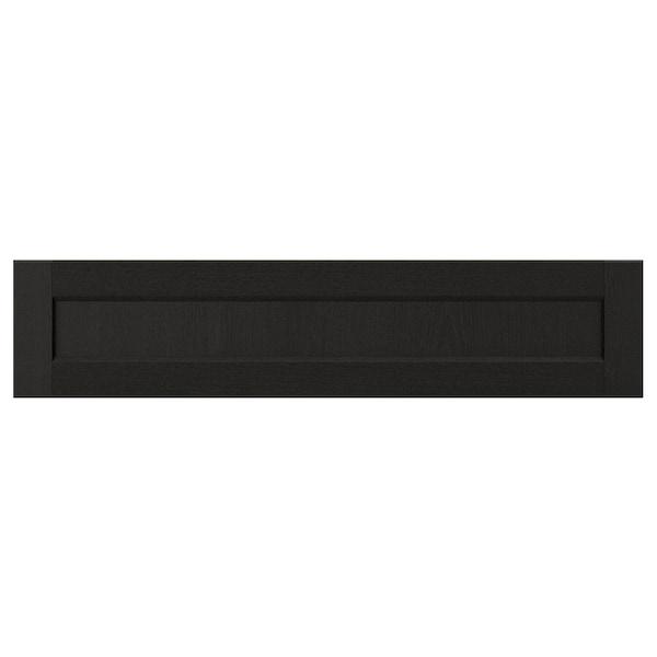 LERHYTTAN レルヒッタン 引き出し前部, ブラックステイン, 90x20 cm