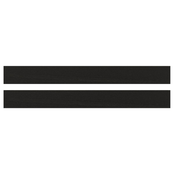 LERHYTTAN レルヒッタン 引き出し前部, ブラックステイン, 90x10 cm
