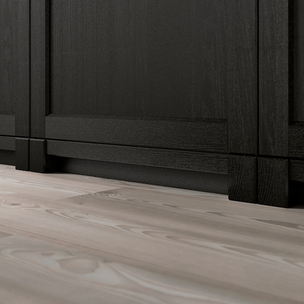 LERHYTTAN レルヒッタン 脚 飾り蹴込み板用, ブラックステイン, 8 cm