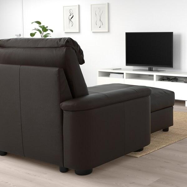 LIDHULT リードフルト 3人掛けソファ, 寝椅子付き/グラン/ボームスタード ダークブラウン