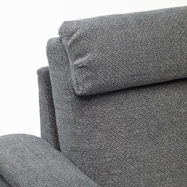 LIDHULT リードフルト 3人掛けソファ, 寝椅子付き/レイデ グレー/ブラック