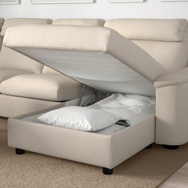 LIDHULT リードフルト カウチソファ、6人掛け, 寝椅子付き/ガッセボル ライトベージュ