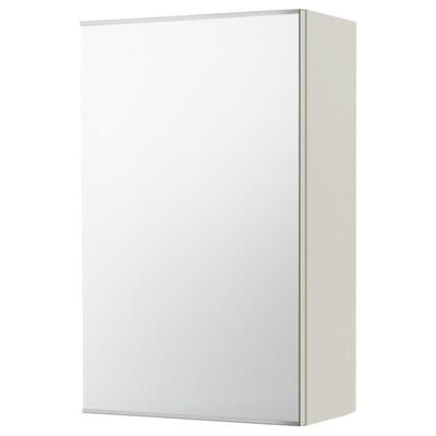 LILLÅNGEN リルオンゲン ミラーキャビネット 扉1枚付き, ホワイト, 40x21x64 cm