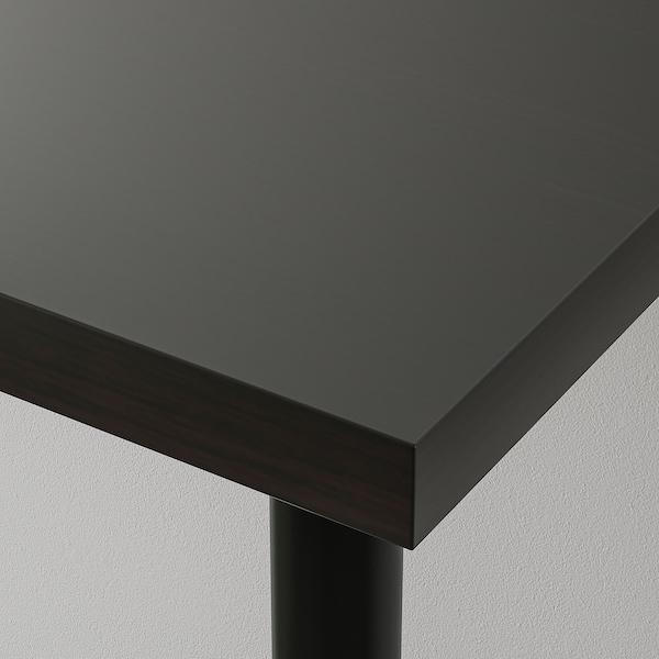 リンモン / アレクス テーブル ブラックブラウン/ブルー 150 cm 75 cm 74 cm