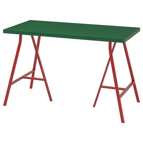 LINNMON リンモン / LERBERG レールベリ テーブル, グリーン/レッド, 120x60 cm
