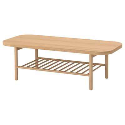 LISTERBY リステルビー コーヒーテーブル, ホワイトステイン オーク, 140x60 cm