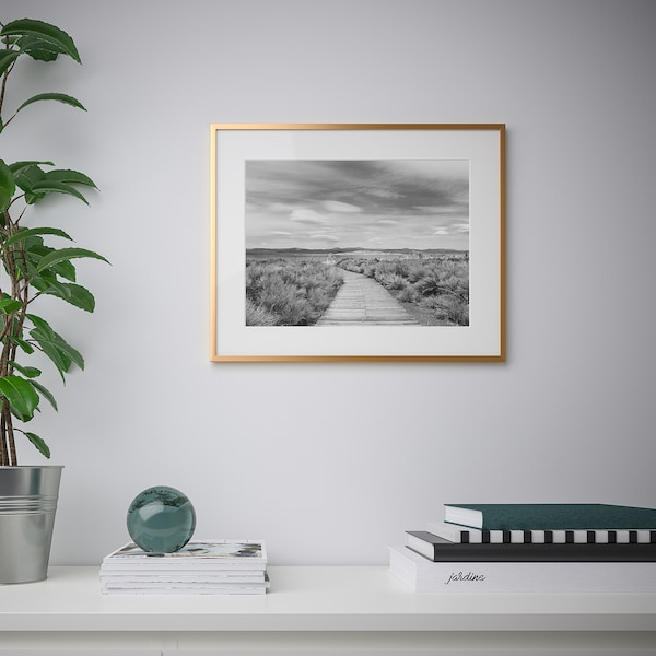 LOMVIKEN ロムヴィーケン フレーム, ゴールドカラー, 40x50 cm