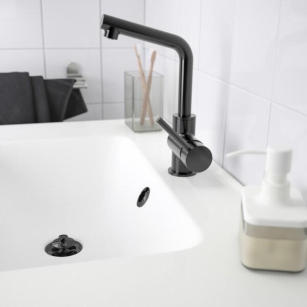 LUNDSKÄR ルンドシェール 洗面台用混合栓 ストレーナー付き, ブラック