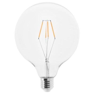 LUNNOM ルッノム LED電球 E26 600ルーメン, 球形 クリアガラス, 125 mm