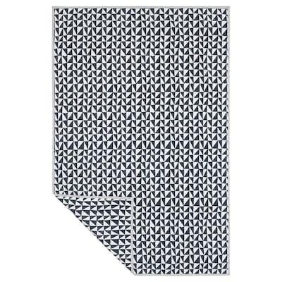 LURVIG ルールヴィグ 毛布, ブラック/トライアングル, 100x150 cm