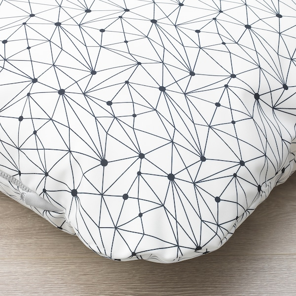 LURVIG ルールヴィグ クッション, ホワイト/ブラック, 62x100 cm