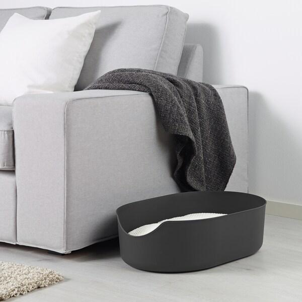 LURVIG ルールヴィグ ペット用トイレ, ブラック, 37x51 cm