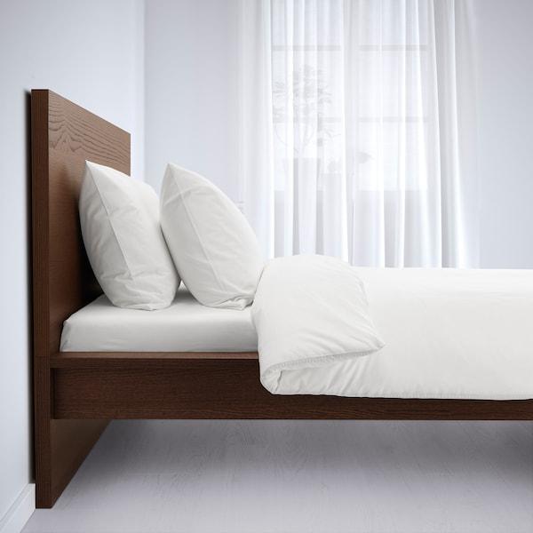 MALM マルム ベッドフレーム, ブラウンステイン アッシュ材突き板/ロンセット, 90x200 cm