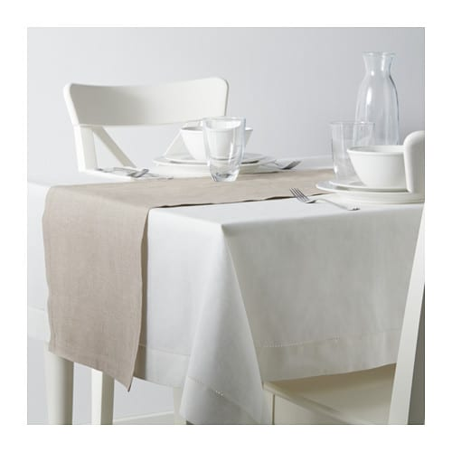 MARKNAD テーブルランナー IKEA 綿/麻混紡。綿の柔らかさと、麻の光沢と張りを併せ持っています テーブルを傷や汚れから守り、食卓をおしゃれに演出します