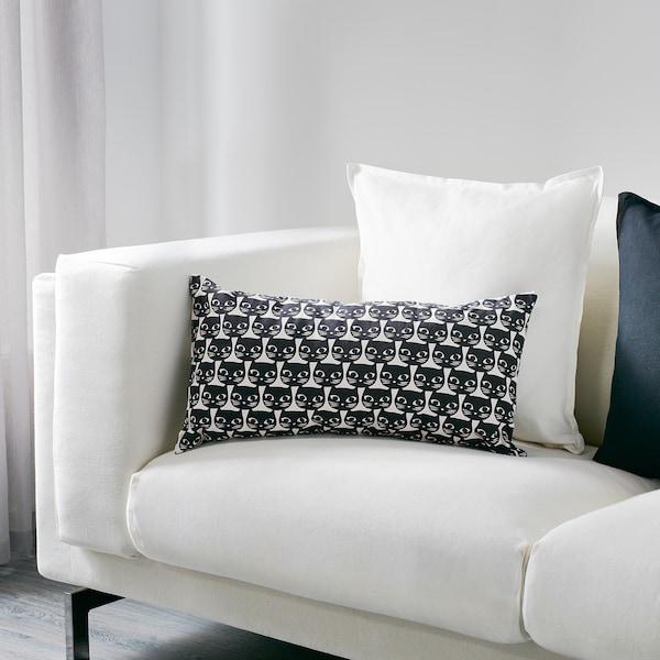 MATTRAM マットラム クッション, ホワイト/ブラック, 30x60 cm