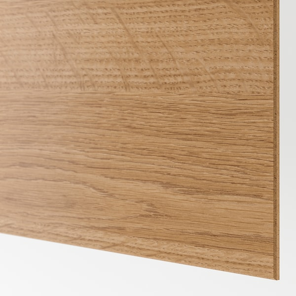 MEHAMN メーハムン 引き戸用パネル4枚, オーク調/ライトグレー, 100x201 cm