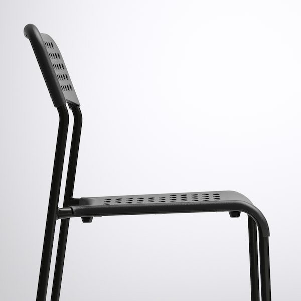 MELLTORP メルトルプ / ADDE アッデ テーブル&チェア4脚, ホワイト/ブラック, 125x75 cm