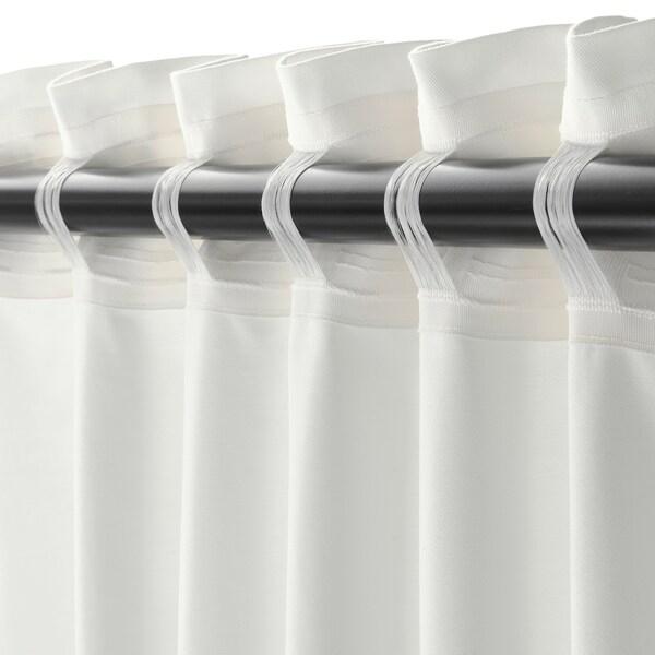 メレーテ カーテン 1組, ホワイト, 145x250 cm