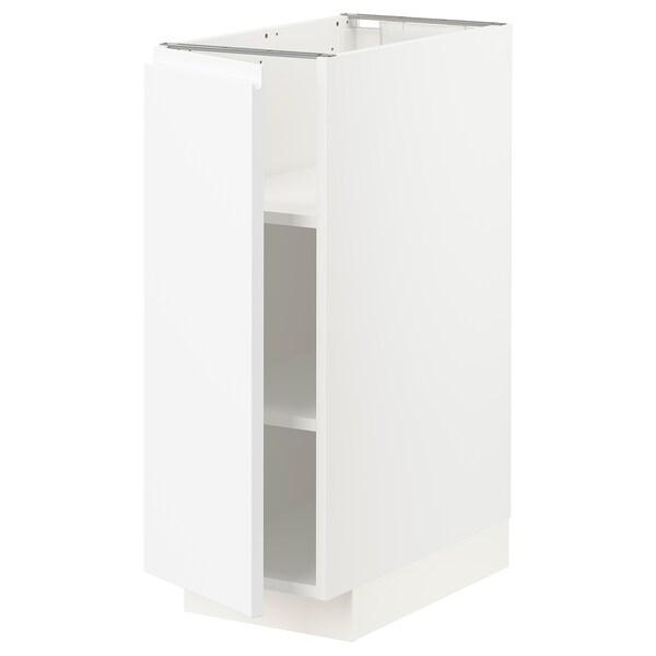 METOD メトード ベースキャビネット 棚板付き, ホワイト/ヴォックストルプ マットホワイト, 30x60x80 cm