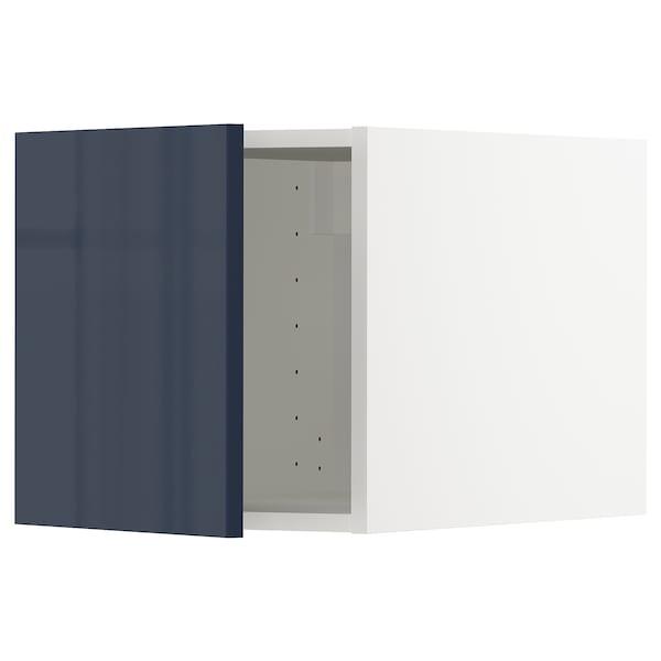 METOD メトード トップキャビネット, ホワイト/イェールスタ ブラックブルー, 40x60x40 cm