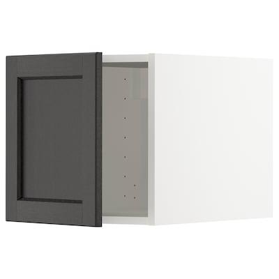 METOD メトード トップキャビネット, ホワイト/レルヒッタン ブラックステイン, 40x60x40 cm